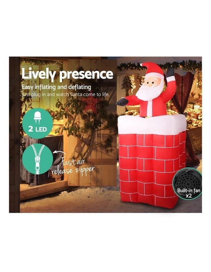 Jingle Jollys 1.8M Christmas Inflatable Archway with Santa Xmas Decor LED image 5