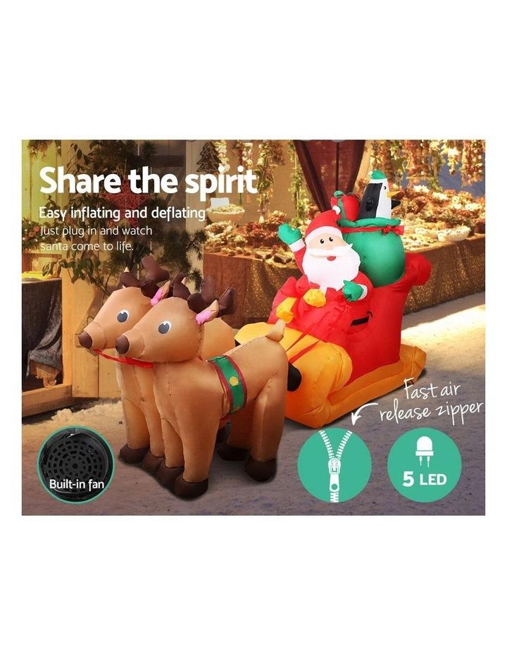 Jingle Jollys 2.2M Christmas Inflatable Santa Sleigh Ride Reindeer Deer Decor image 5