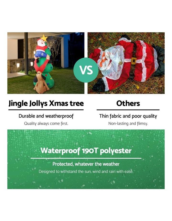 Jingle Jollys 1.8M Christmas Inflatable Santa on Tree Lights Xmas Decor Airblown image 4