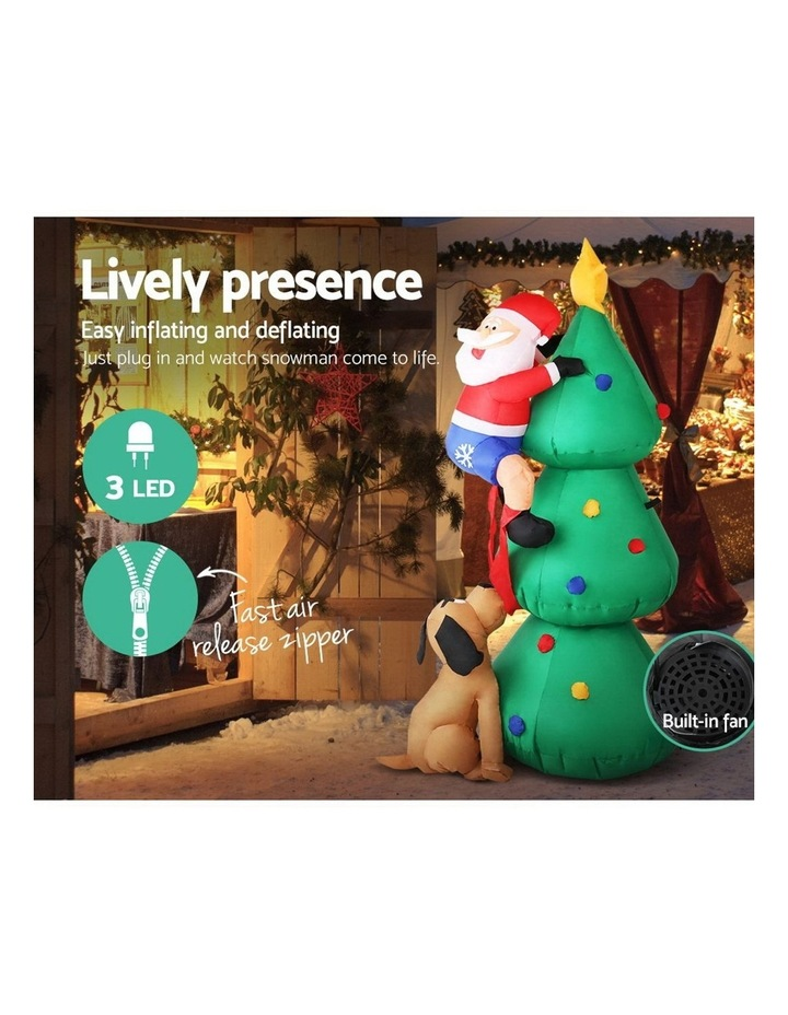 Jingle Jollys 1.8M Christmas Inflatable Santa on Tree Lights Xmas Decor Airblown image 5