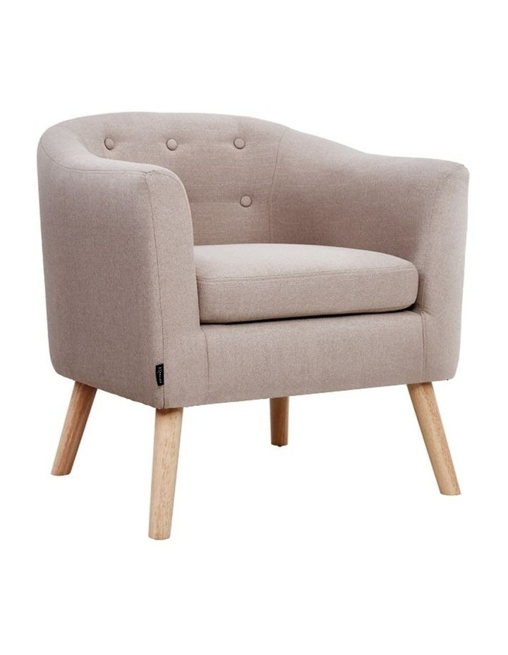 ADORA Armchair Tub Chair Single Accent Armchairs Sofa Lounge Fabric Beige image 1