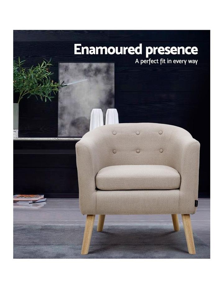ADORA Armchair Tub Chair Single Accent Armchairs Sofa Lounge Fabric Beige image 3