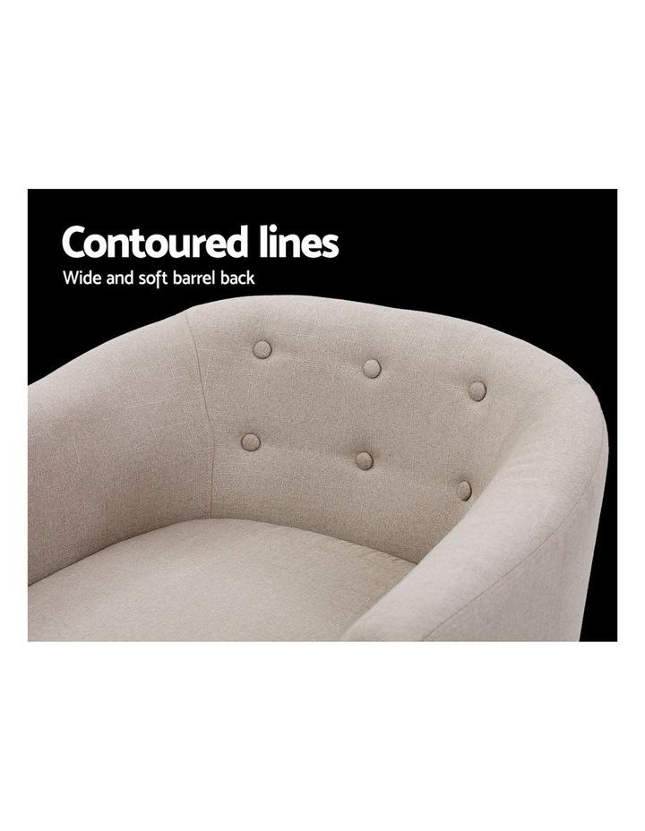 ADORA Armchair Tub Chair Single Accent Armchairs Sofa Lounge Fabric Beige image 5
