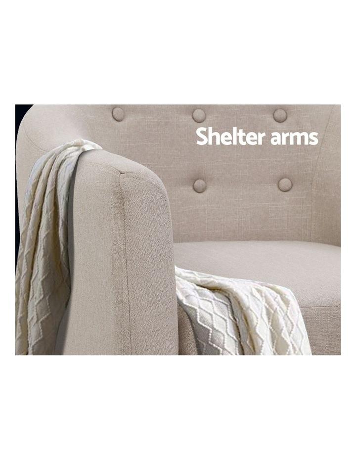 ADORA Armchair Tub Chair Single Accent Armchairs Sofa Lounge Fabric Beige image 6