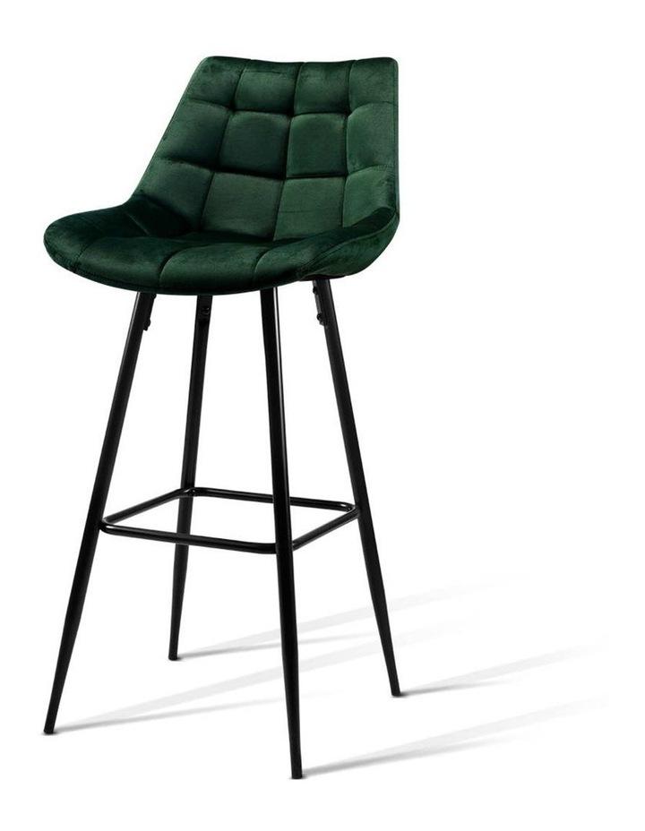 Kitchen Bar Stools Velvet Bar Stool Counter Chairs Metal Barstools Green image 1