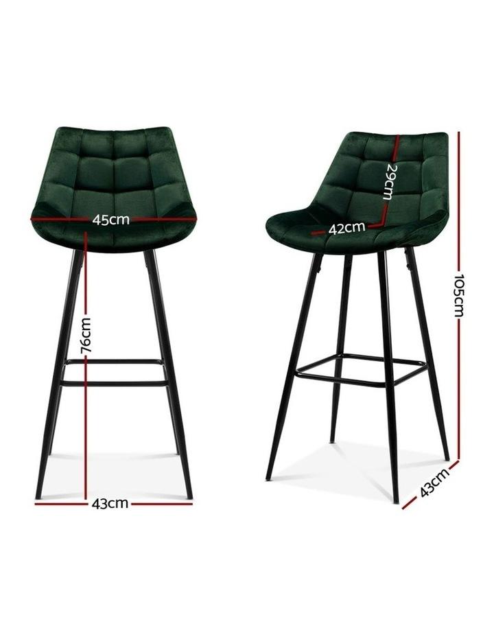 Kitchen Bar Stools Velvet Bar Stool Counter Chairs Metal Barstools Green image 2