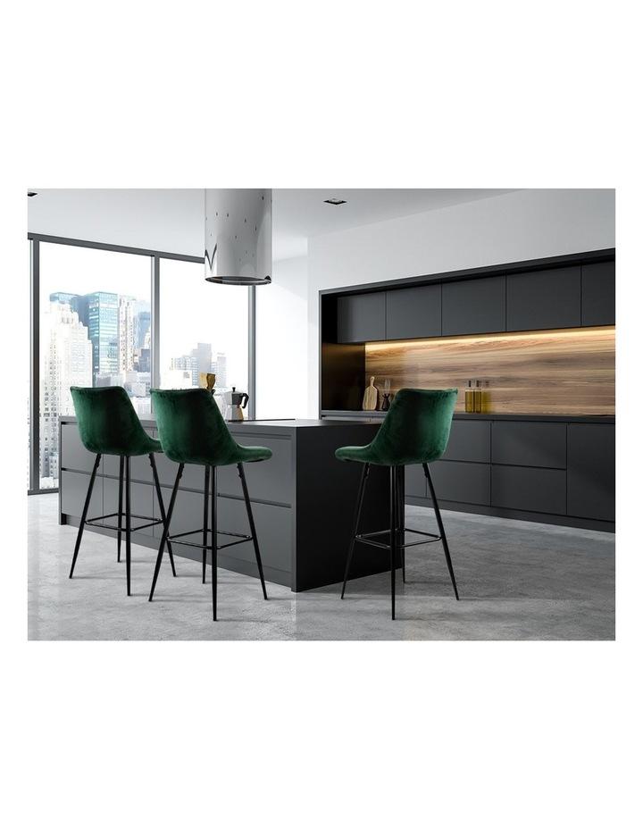 Kitchen Bar Stools Velvet Bar Stool Counter Chairs Metal Barstools Green image 4