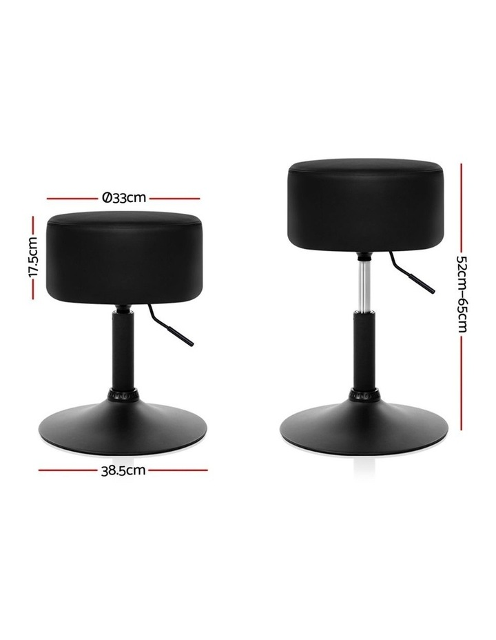 Kitchen Bar Stools Accent Chairs Gas Lift Stool Swivel Barstools Leather Black image 2