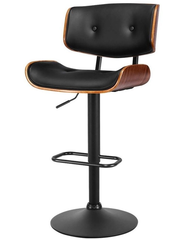 Kitchen Bar Stool Gas Lift Stool Chairs Swivel Barstool Leather Black x1 image 1