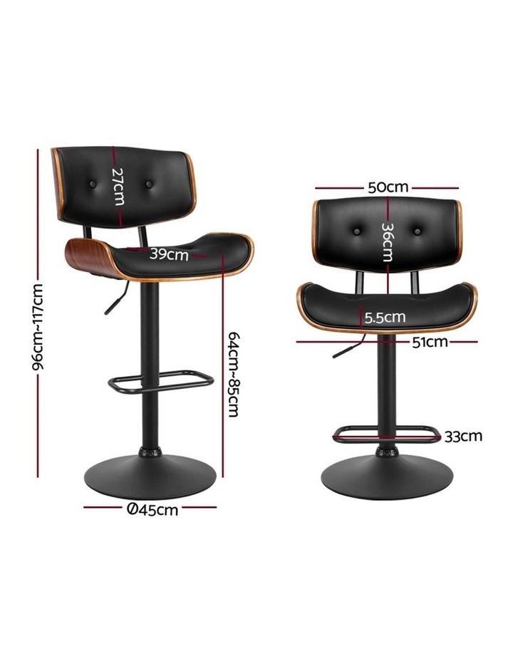Kitchen Bar Stool Gas Lift Stool Chairs Swivel Barstool Leather Black x1 image 2