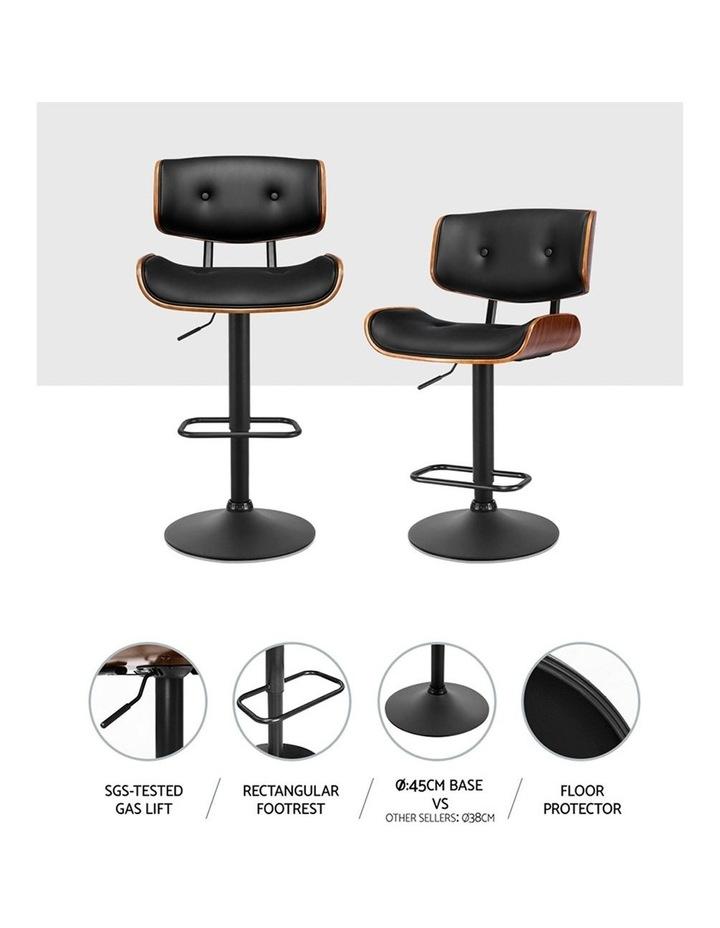 Kitchen Bar Stool Gas Lift Stool Chairs Swivel Barstool Leather Black x1 image 4