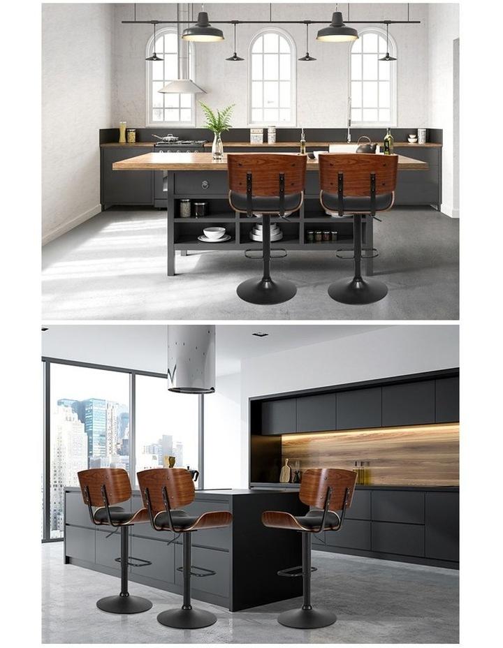 Kitchen Bar Stool Gas Lift Stool Chairs Swivel Barstool Leather Black x1 image 5