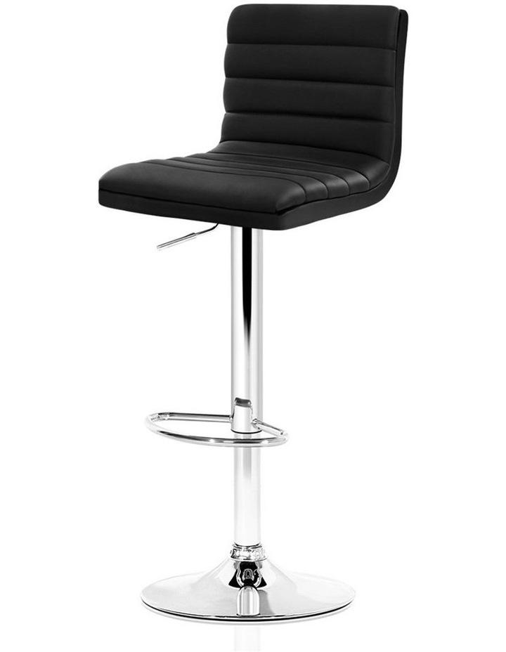 2x Leather Bar Stools ARNE Swivel Bar Stool Kitchen Chairs Black Gas Lift image 1