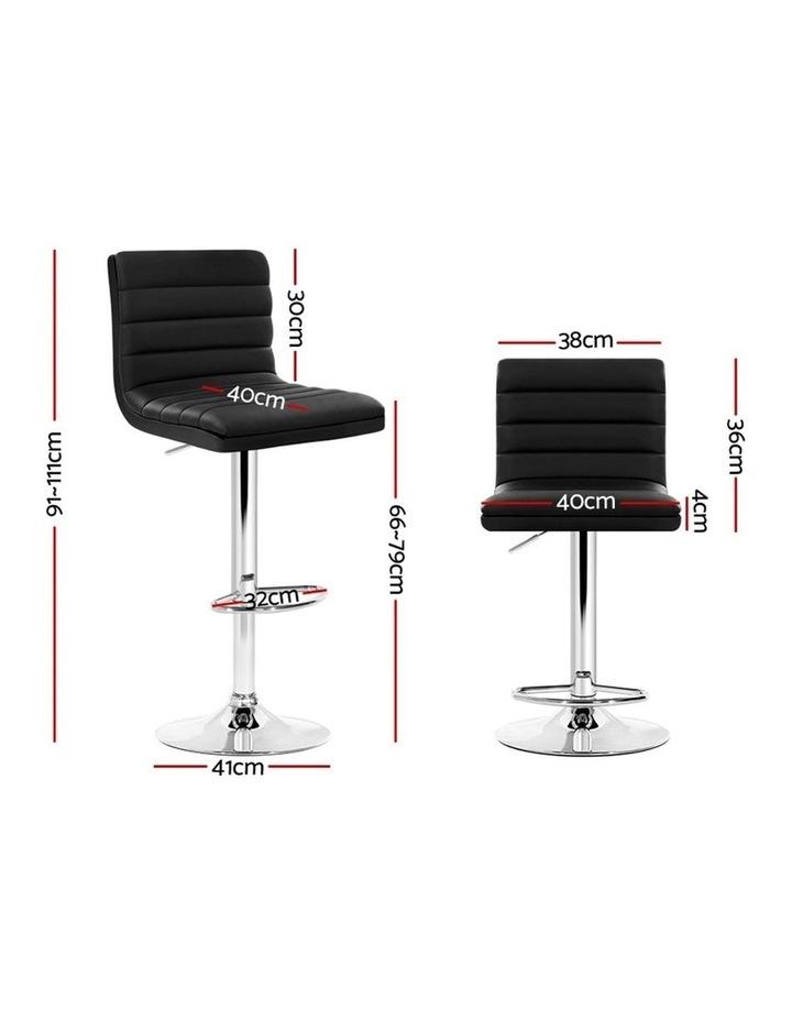 2x Leather Bar Stools ARNE Swivel Bar Stool Kitchen Chairs Black Gas Lift image 2