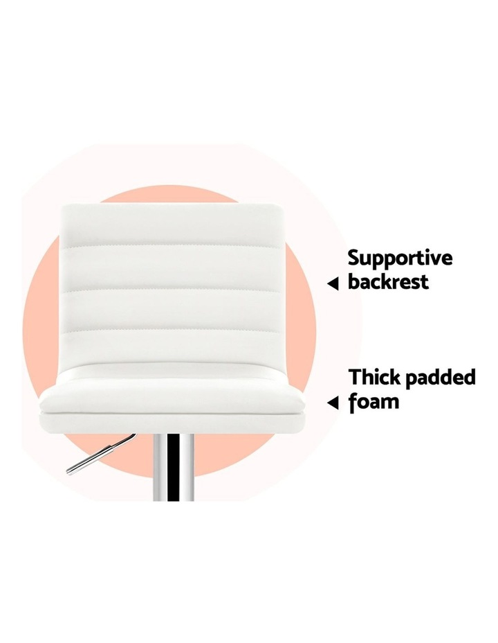 2x Leather Bar Stools ARNE Swivel Bar Stool Kitchen Chairs White Gas Lift image 4