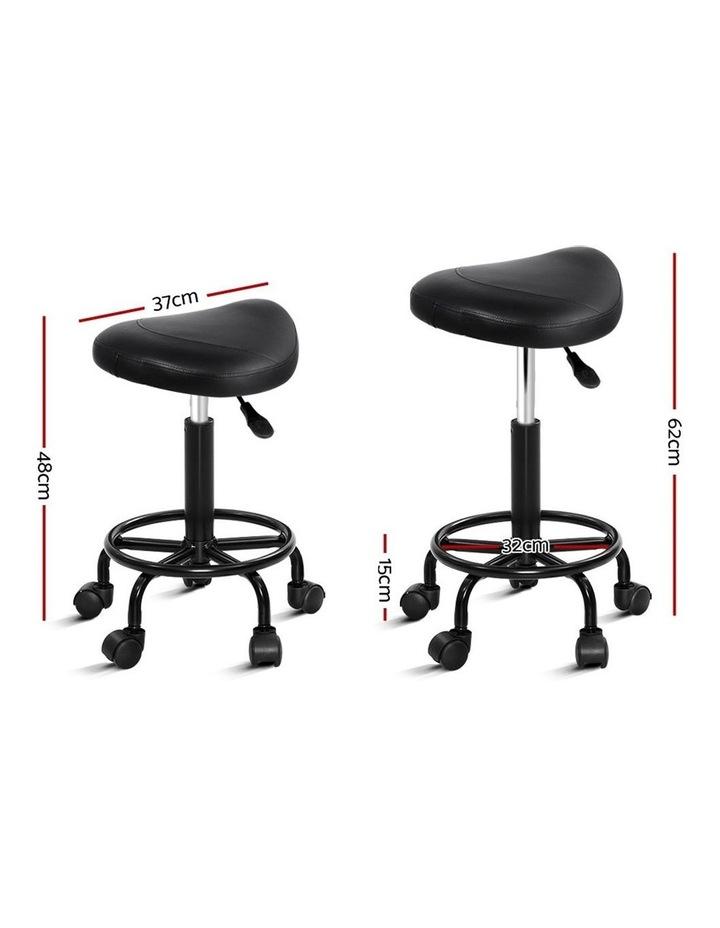Salon Stool Black Swivel Barber SADDLE Hairdressing Bar Chairs Gas Lift image 2