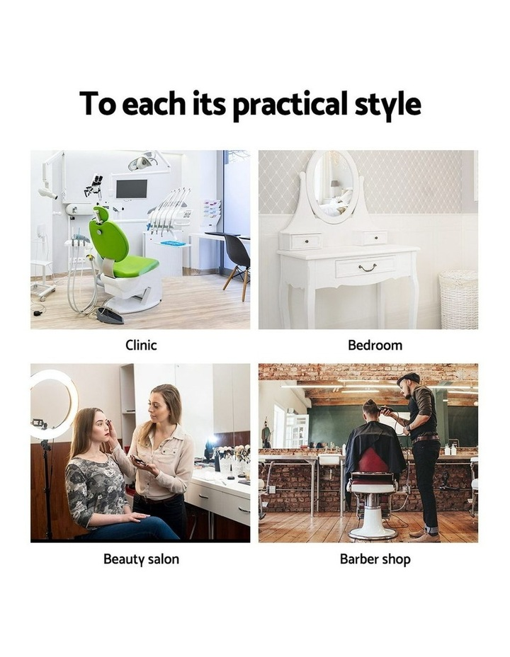 Salon Stool Black Swivel Barber SADDLE Hairdressing Bar Chairs Gas Lift image 5