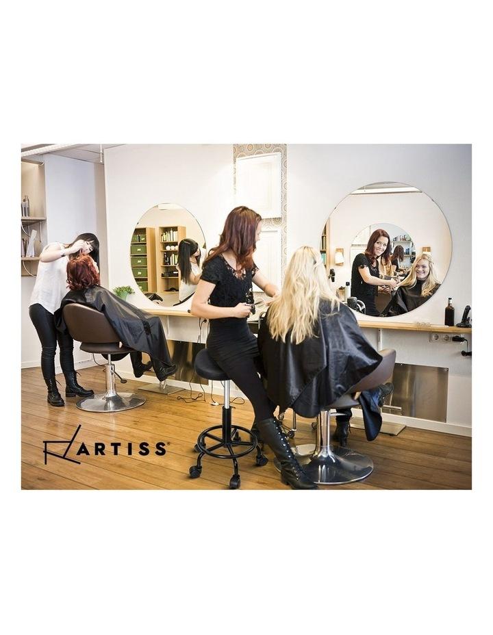 Salon Stool Black Swivel Barber SADDLE Hairdressing Bar Chairs Gas Lift image 6