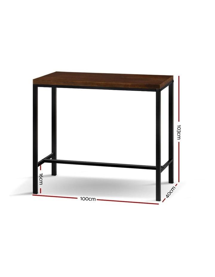 Vintage Industrial High Bar Table for Stool Kitchen Cafe Desk Dark Brown image 2