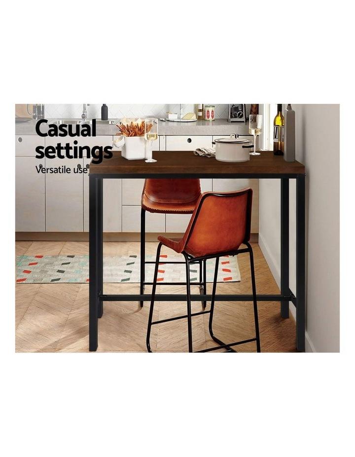 Vintage Industrial High Bar Table for Stool Kitchen Cafe Desk Dark Brown image 3