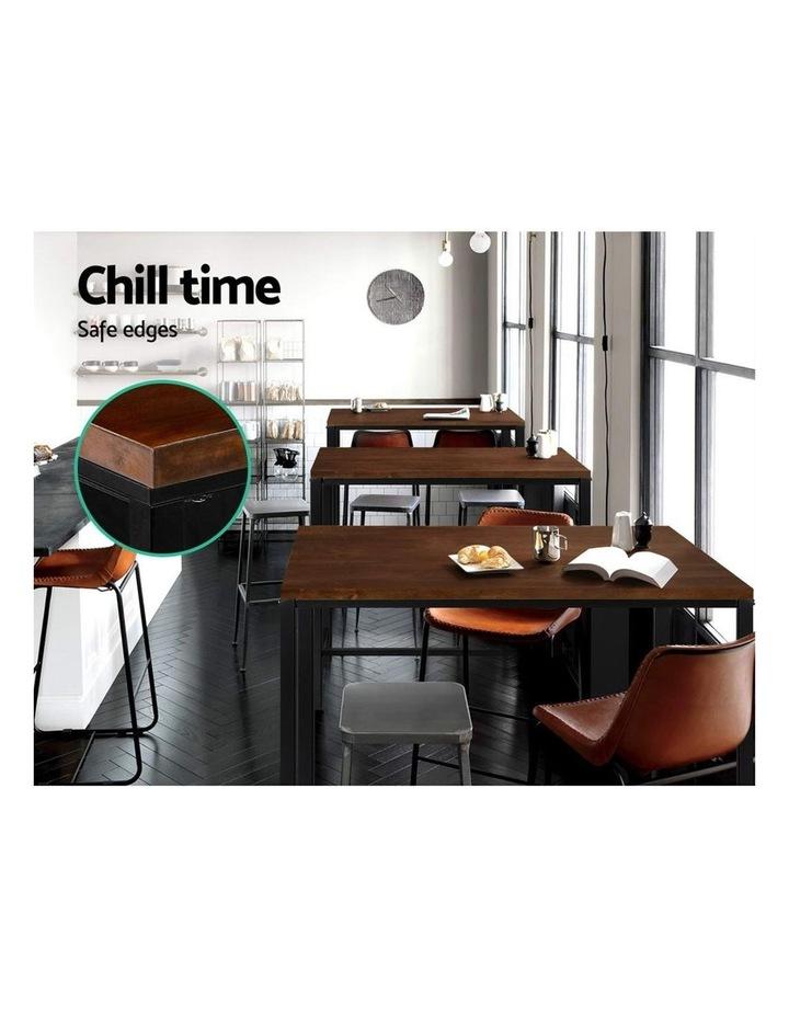 Vintage Industrial High Bar Table for Stool Kitchen Cafe Desk Dark Brown image 4