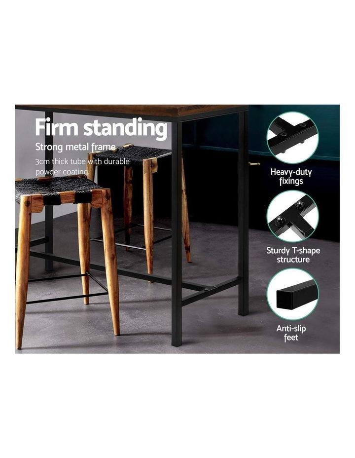 Vintage Industrial High Bar Table for Stool Kitchen Cafe Desk Dark Brown image 6