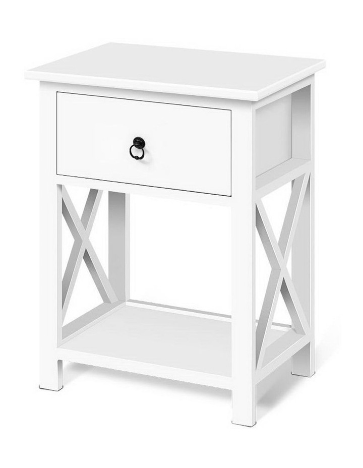 Bedside Tables Drawers Side Table Nightstand Lamp Chest Unit Cabinet x2 image 1