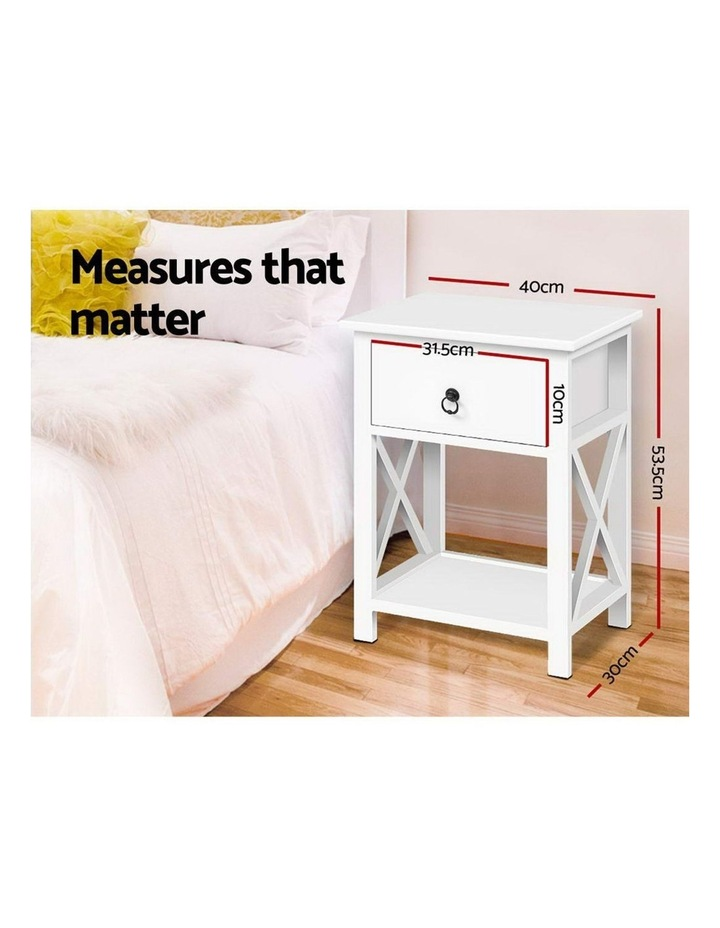 Bedside Tables Drawers Side Table Nightstand Lamp Chest Unit Cabinet x2 image 2
