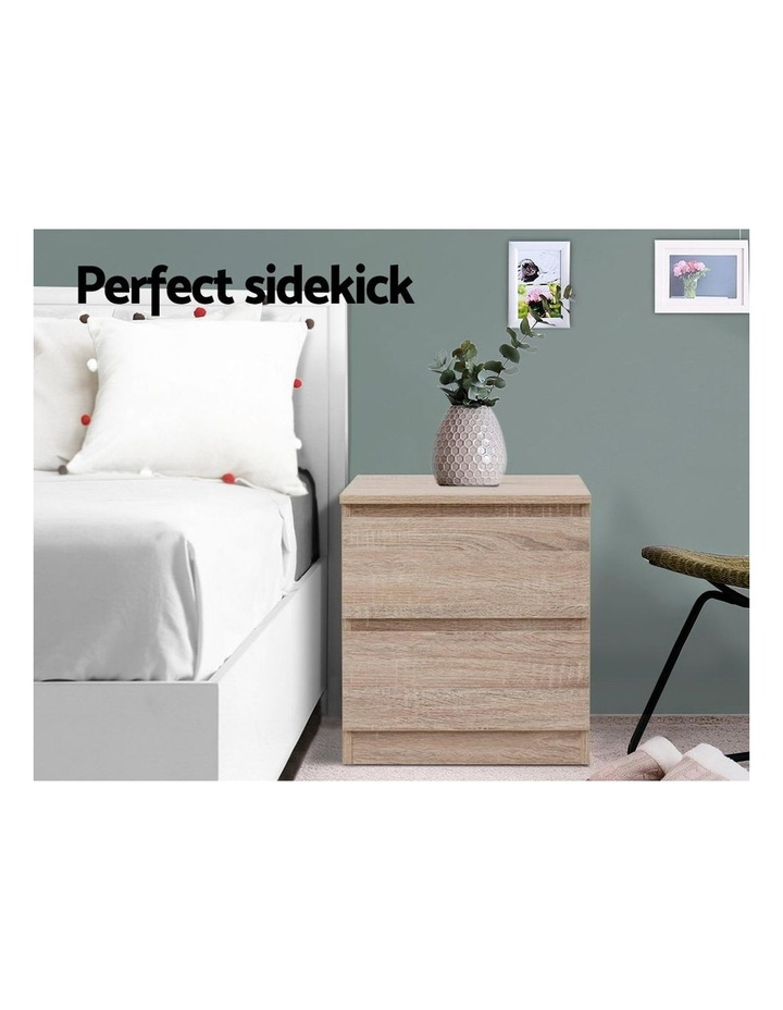 Bedside Tables Drawers Side Table Bedroom Furniture Nightstand Wood Lamp image 3