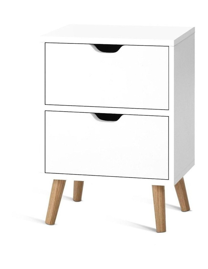 Bedside Tables Drawers Side Table Nightstand White Storage Cabinet Wood image 1