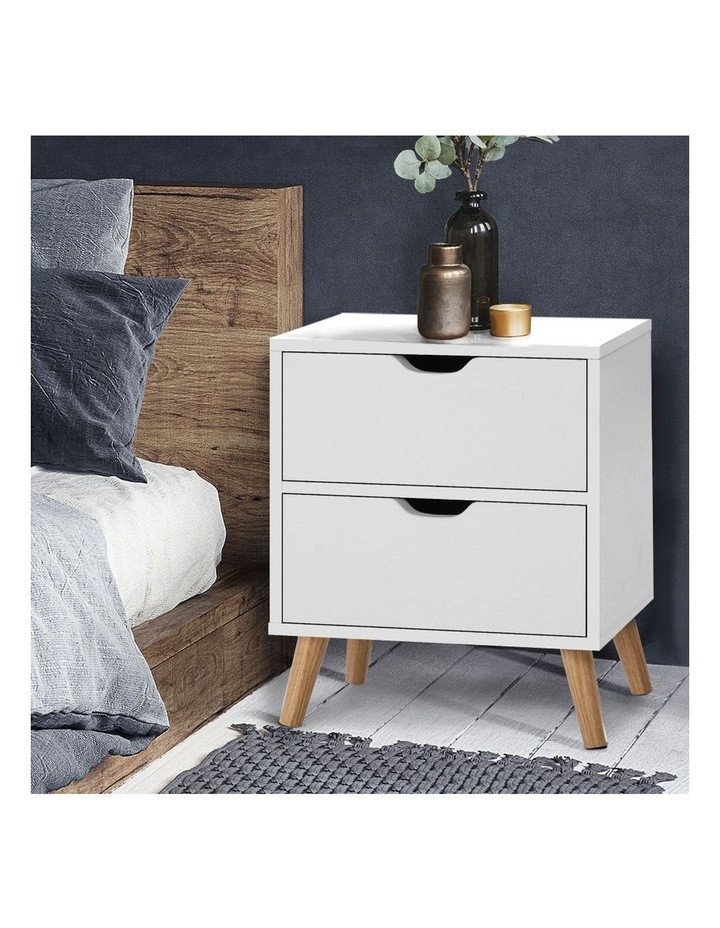 Bedside Tables Drawers Side Table Nightstand White Storage Cabinet Wood image 6