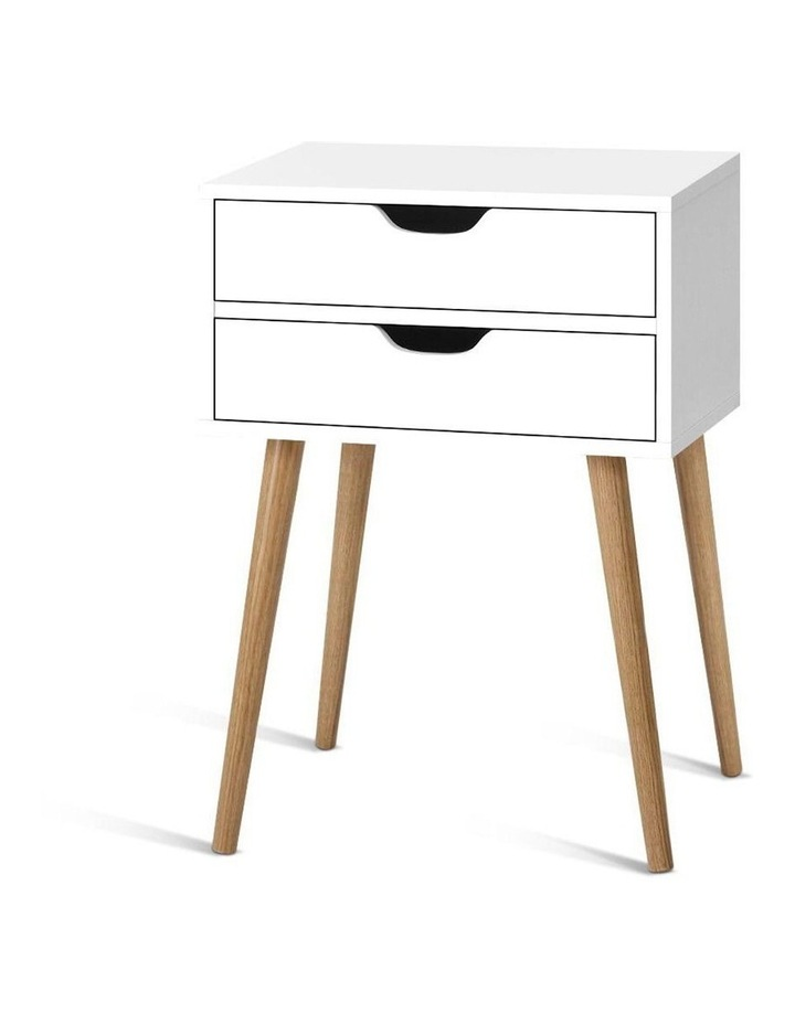 Bedside Tables Drawers Side Table Nightstand Wood Storage Cabinet White image 1