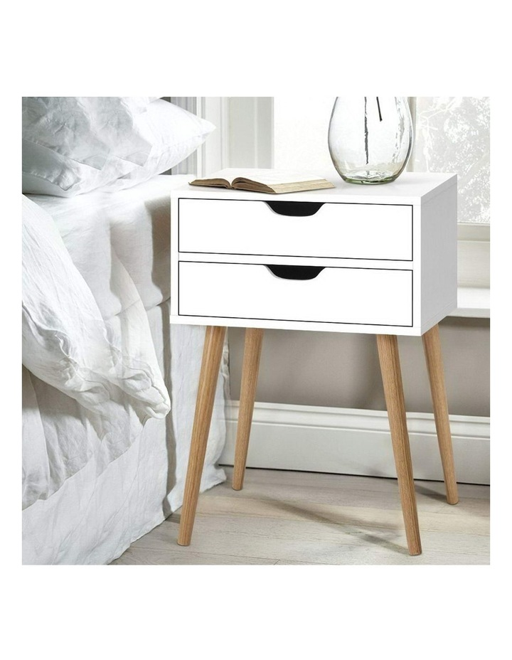 Bedside Tables Drawers Side Table Nightstand Wood Storage Cabinet White image 6