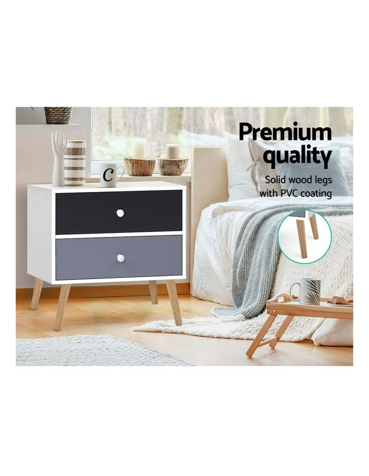 Bedside Tables Drawers Side Table Nightstand Lamp Side Storage Cabinet image 4