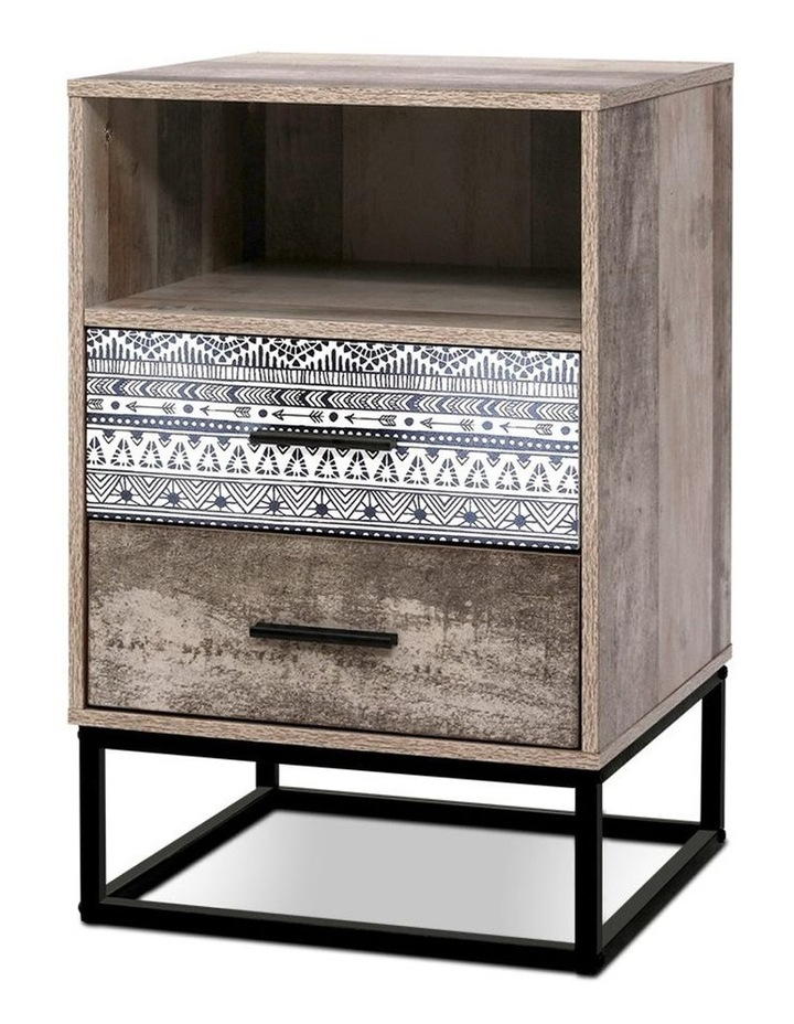 Bedside Tables Drawers Side Table Wood Nightstand Storage Cabinet Unit image 1