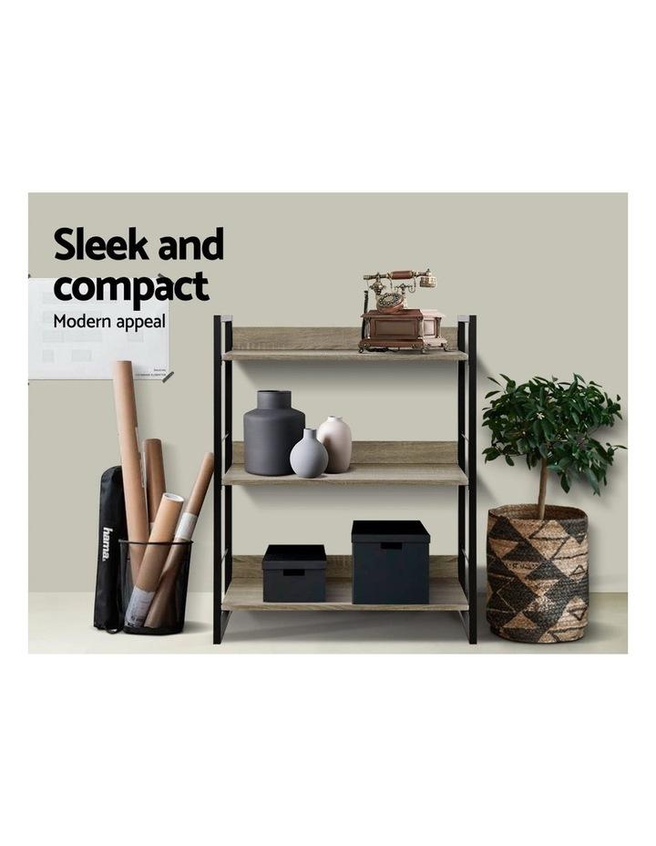 Bookshelf Display Shelves Wooden Book Shelf Wall Corner Bookcase Storage image 4