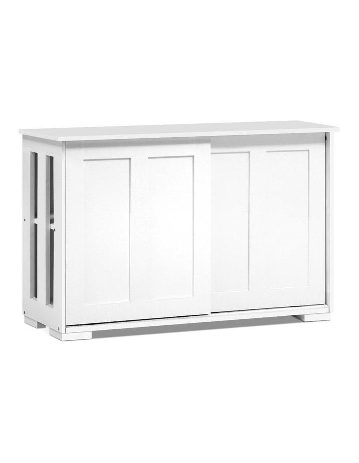 Buffet Sideboard Cabinet White Doors Storage Shelf Cupboard Hallway Table image 1