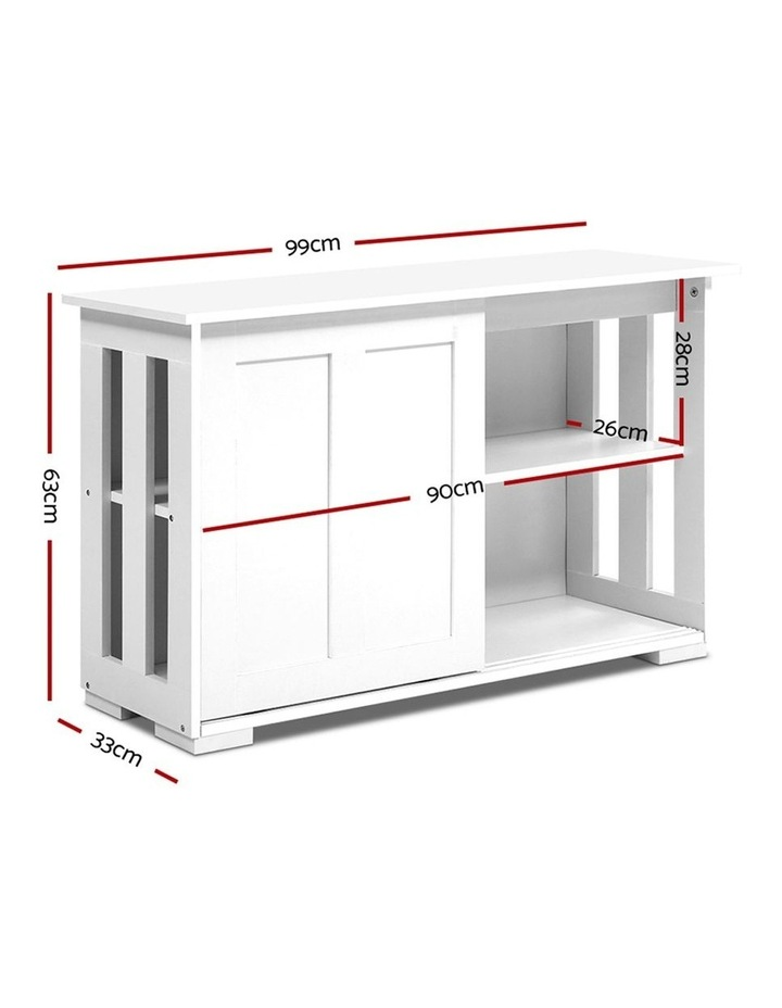 Buffet Sideboard Cabinet White Doors Storage Shelf Cupboard Hallway Table image 2