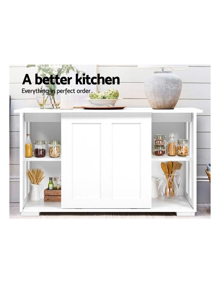 Buffet Sideboard Cabinet White Doors Storage Shelf Cupboard Hallway Table image 3
