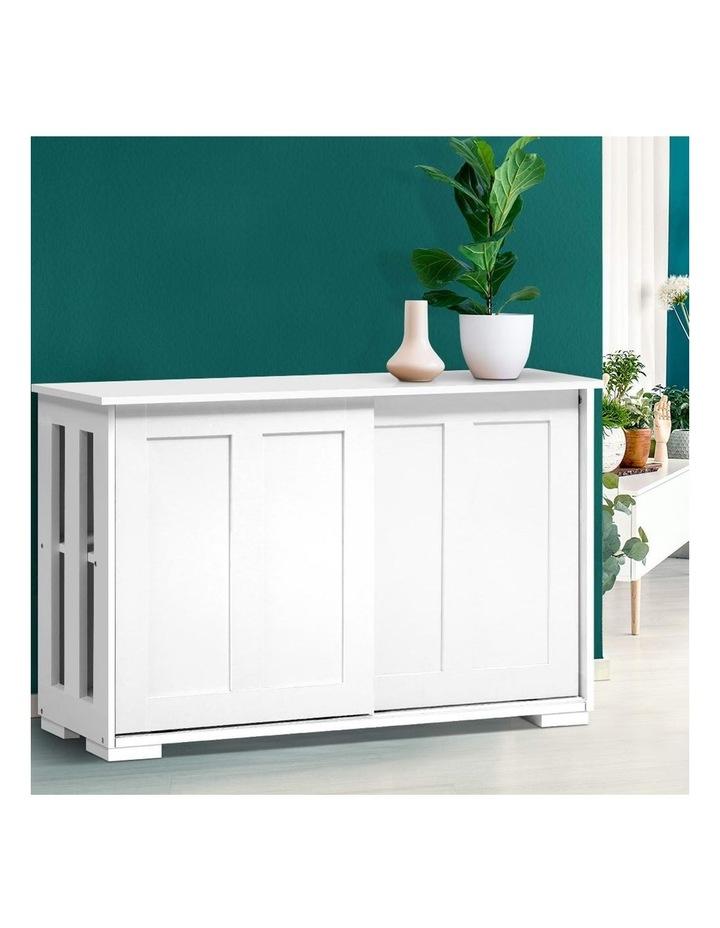 Buffet Sideboard Cabinet White Doors Storage Shelf Cupboard Hallway Table image 6