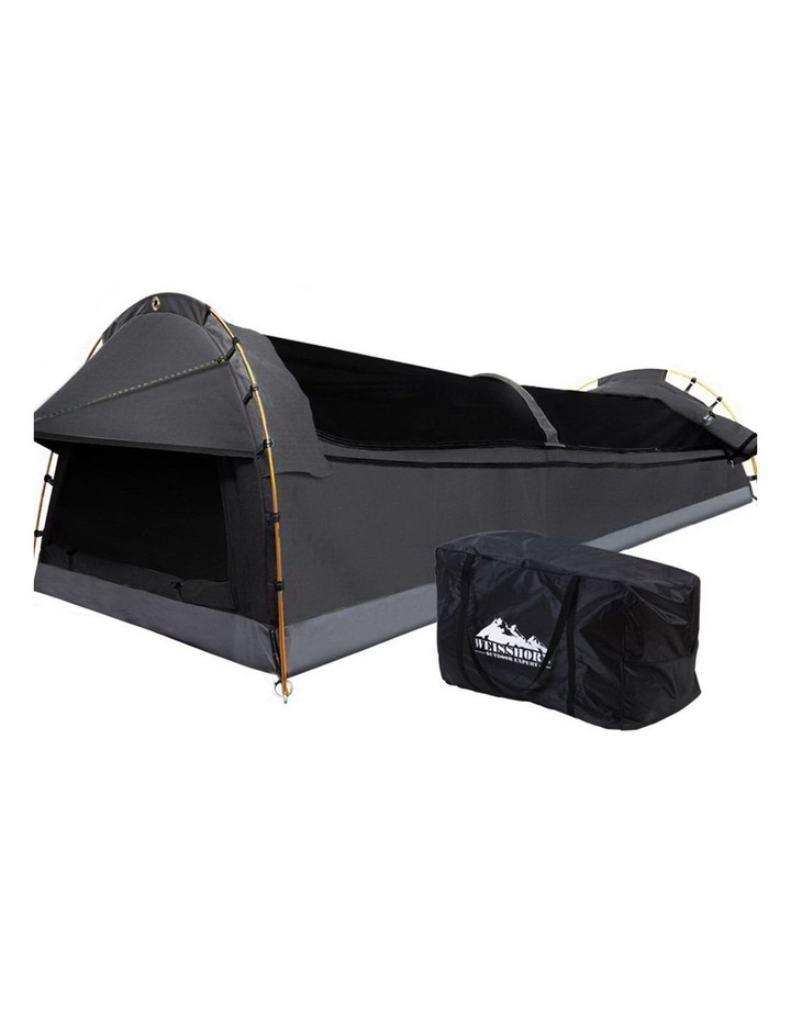 Deluxe Double Size Camping Tent in Black image 1