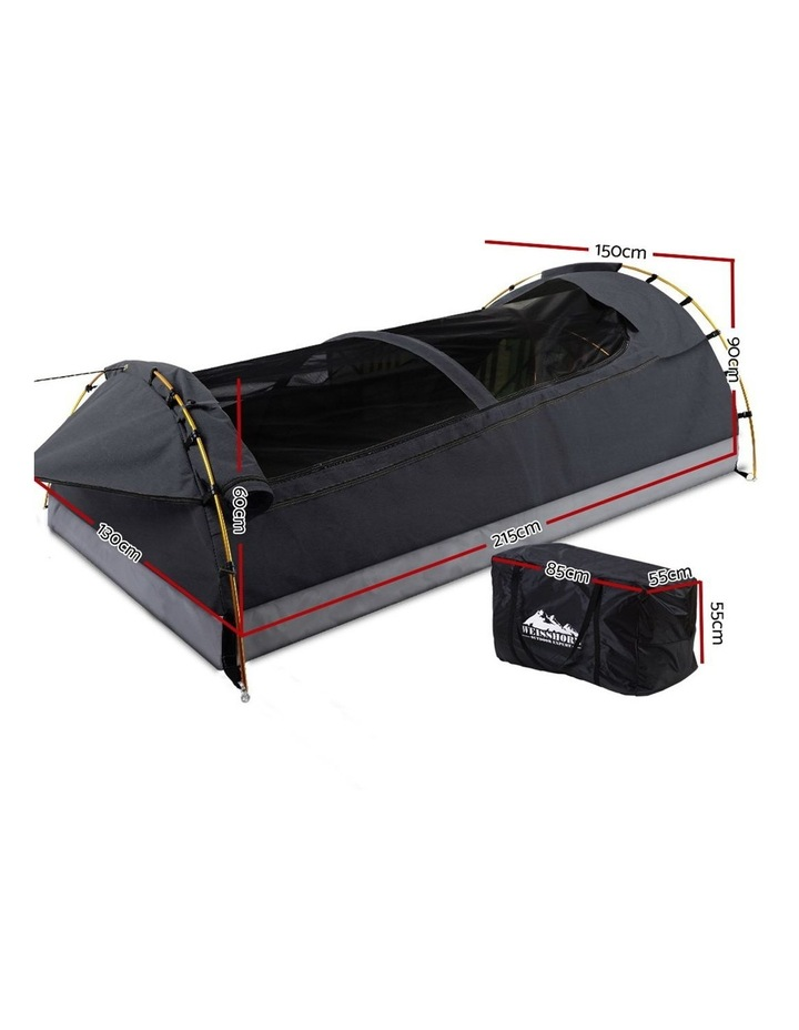 Deluxe Double Size Camping Tent in Black image 2