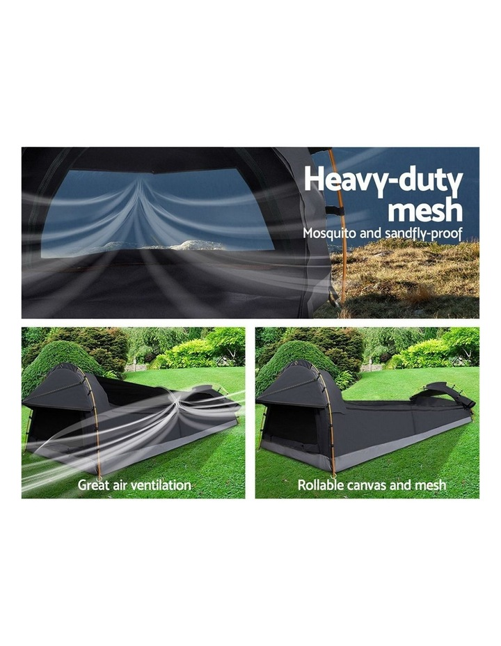 Deluxe Double Size Camping Tent in Black image 4