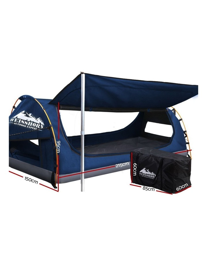 Double Swag Camping Tent Dark Blue image 2