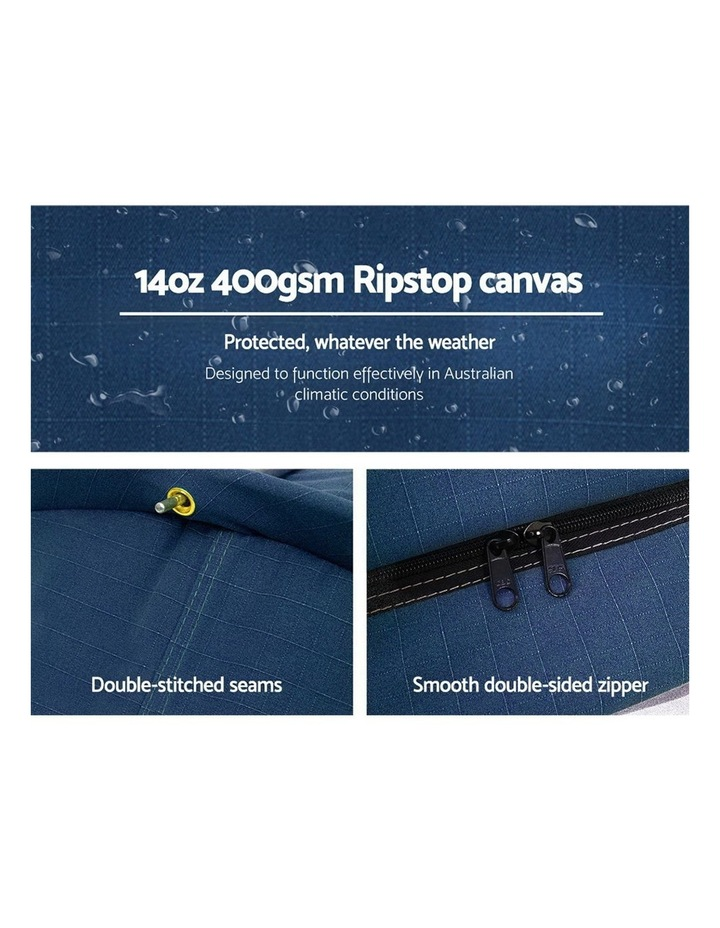 Deluxe Double Size Camping Tent in Dark Blue image 5