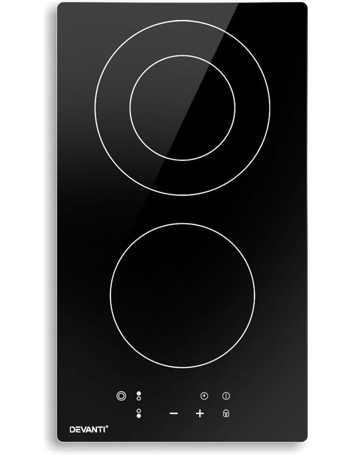 Electric Ceramic Cooktop 30cm Kitchen Cooker Cook Top Hob Touch Control 3-Zones image 1