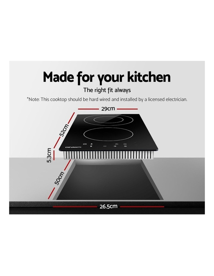 Electric Ceramic Cooktop 30cm Kitchen Cooker Cook Top Hob Touch Control 3-Zones image 2
