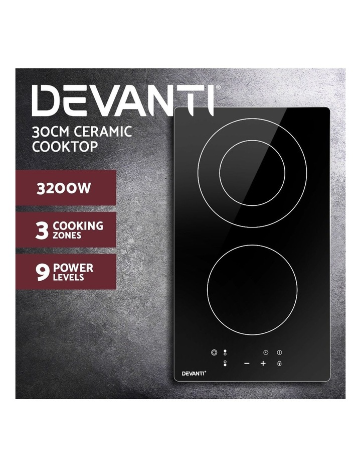 Electric Ceramic Cooktop 30cm Kitchen Cooker Cook Top Hob Touch Control 3-Zones image 3
