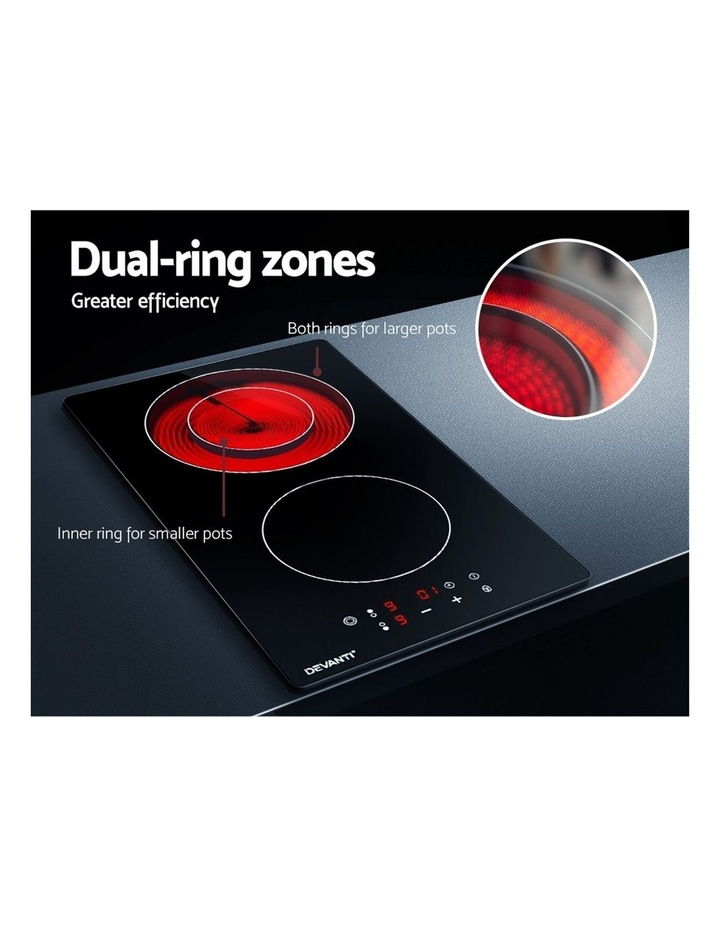 Electric Ceramic Cooktop 30cm Kitchen Cooker Cook Top Hob Touch Control 3-Zones image 4