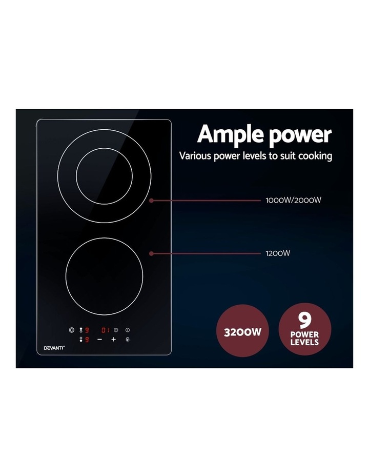 Electric Ceramic Cooktop 30cm Kitchen Cooker Cook Top Hob Touch Control 3-Zones image 5